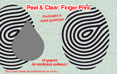 Peel & Clear® Finger Print
