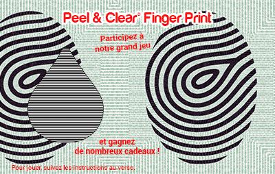 Peel & Clear® Finger Print